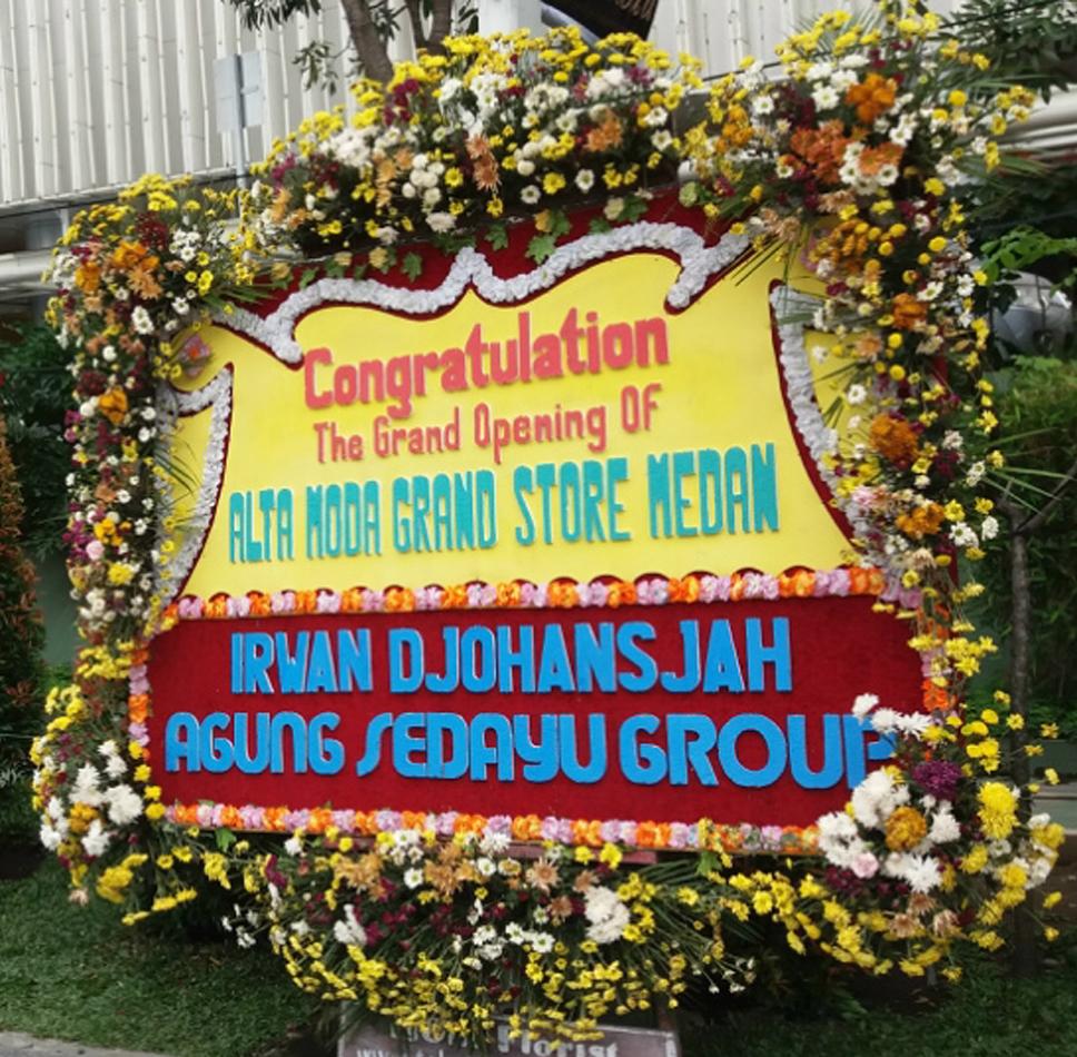Karangan Bunga Ucapan Untuk Peresmian di Medan