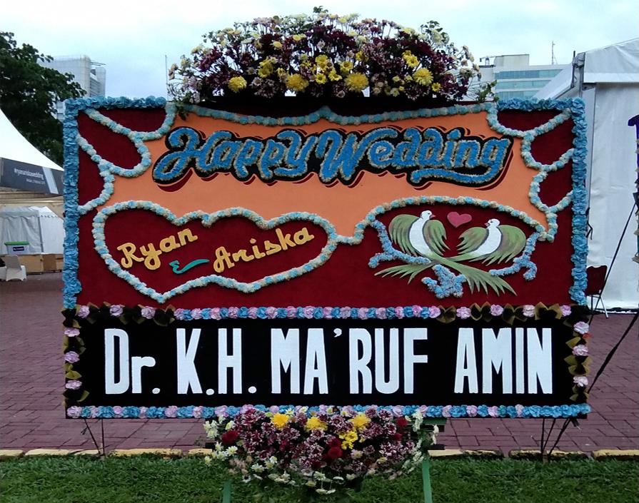 karangan Bunga di Lapangan Benteng Medan